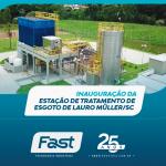 Inauguração da Estação de Tratamento de Esgoto de Lauro Müller/SC