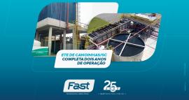 ETE de Canoinhas/SC completa dois anos de operação