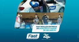 Fast realiza entrega de doações à cidade de Ibicaré/SC