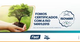Fomos certificados com a ISO 14001:2015 – Selo de excelência na Gestão Ambiental