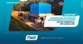Construção da Estação de Tratamento de Esgoto Santa Terezinha, em Canela/RS