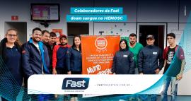 Colaboradores da Fast doam sangue no HEMOSC
