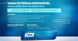 Vaga temporária disponível | Assistente técnico (externo)