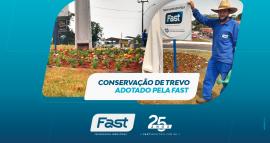 Conservação de trevo adotado pela Fast