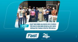 Fast recebe alunos do curso Técnico em Mecânica do SESI SENAI/SC para visita técnica