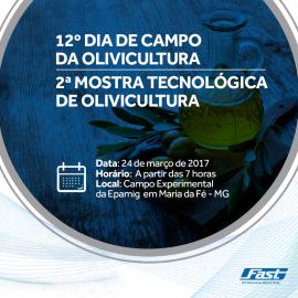 Fast participa de mostra tecnológica de Olivicultura