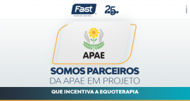 Somos parceiros da APAE em projeto que incentiva a equoterapia