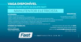 Vaga disponível | Manutentor Eletricista